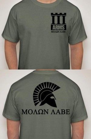 III Arms Molon Labe Shirts - In Stock