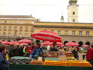 The market in my hometown Zagreb