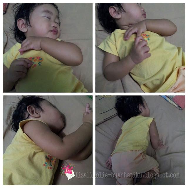 kebaikan tidur meniarap, bayi tidur meniarap, kesan tidur meniarap pada bayi,