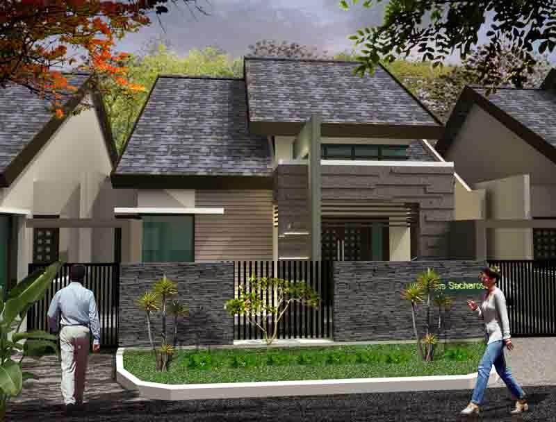 Rumah Minimalis 2 Lantai Atap Limas Rumah Minimalis Atap Limas