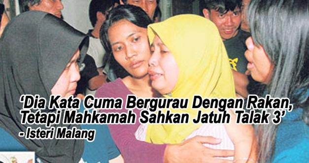 """""""Dia Cuma Bergurau Tapi Mahkamah Sahkan Jatuh Talak 3!"""""""