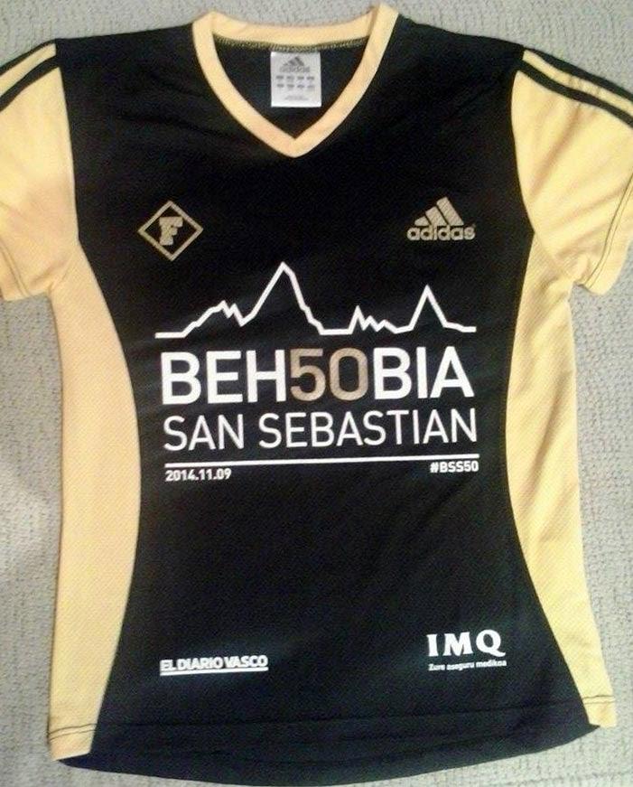 camiseta 50 behobia san sebastian