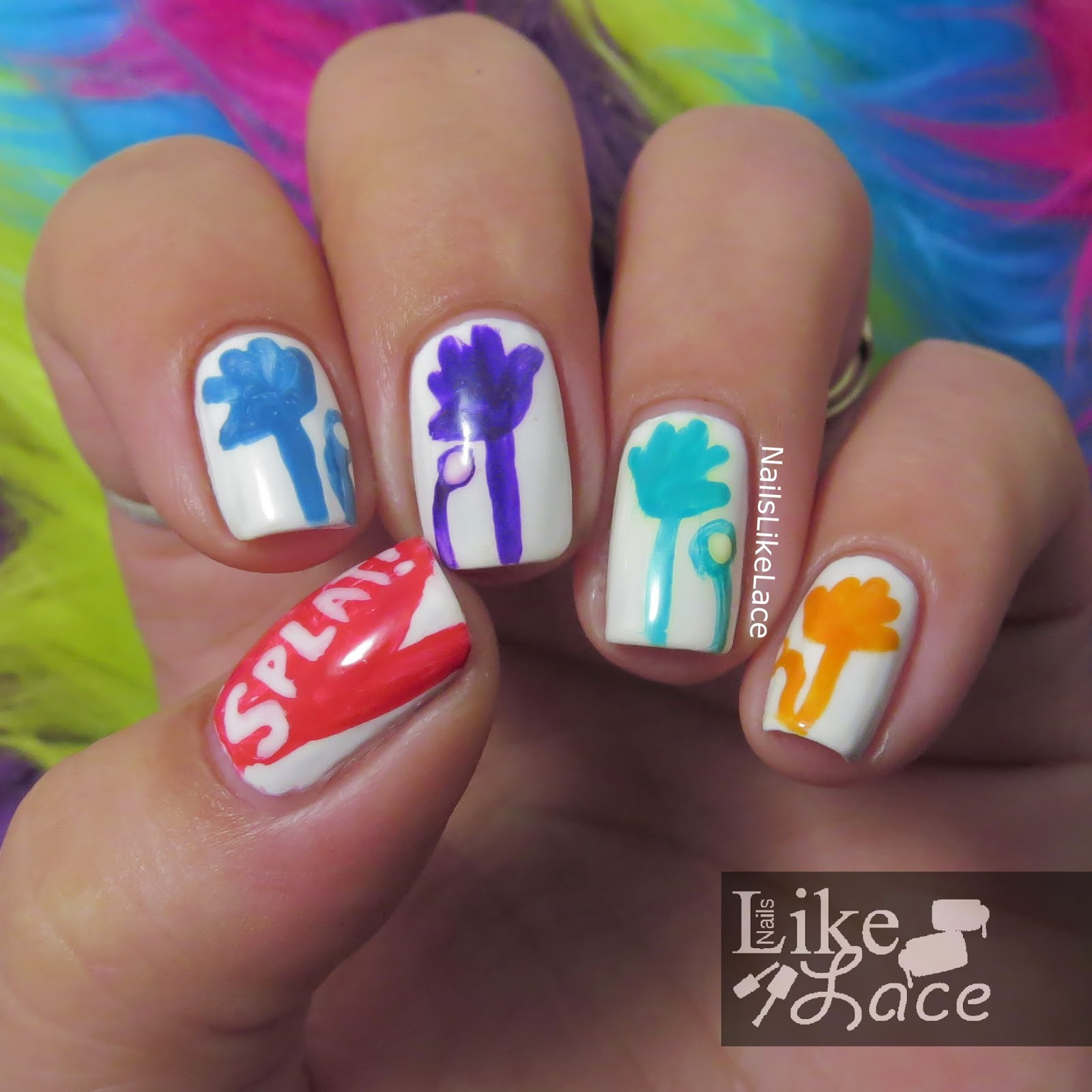 NailsLikeLace: The Digit-al Dozen Does Childhood: Day 3 - Sticky Hands