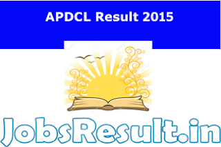 APDCL Result 2015