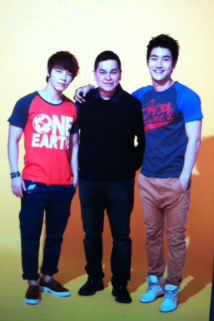 Siwon and Donghae with Bench's Ben Chan