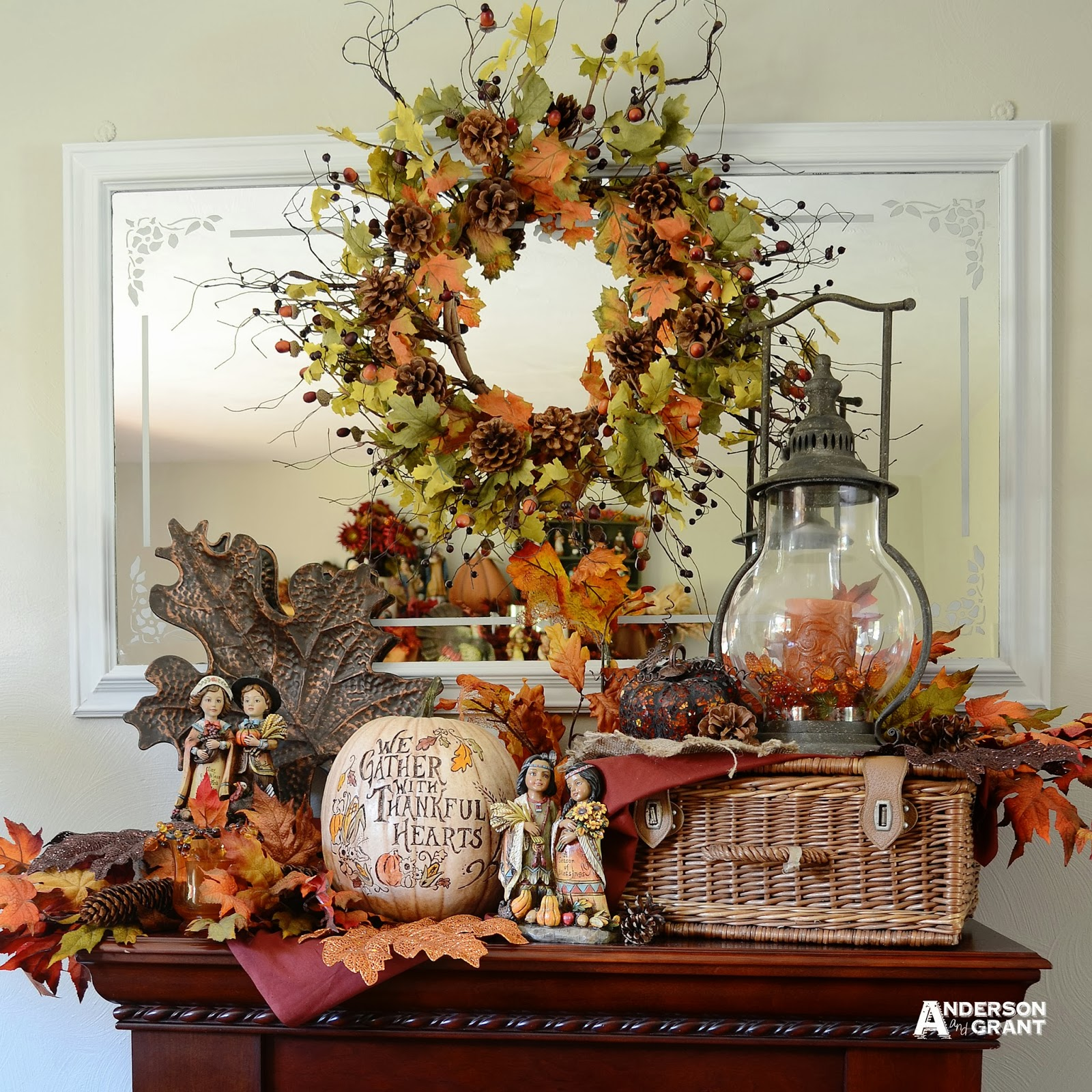 transforming a fall display for thanksgiving anderson