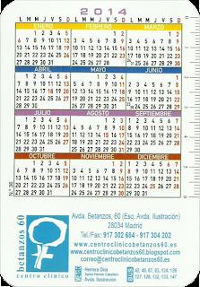 Diseño de la parte posterior de los calendarios de bolsillo 2013