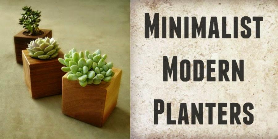 minimalist modern planters