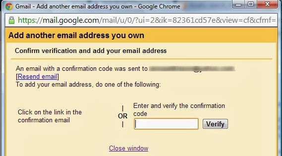gmail verification screenshot