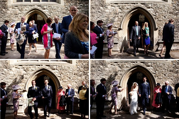 Guests at London Wedding at All Saints Church in Fulham