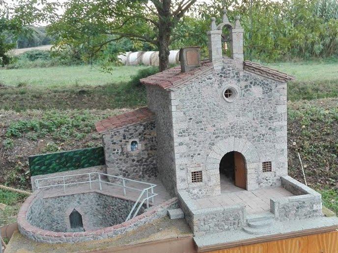 Maqueta de la capella de Les Fonts