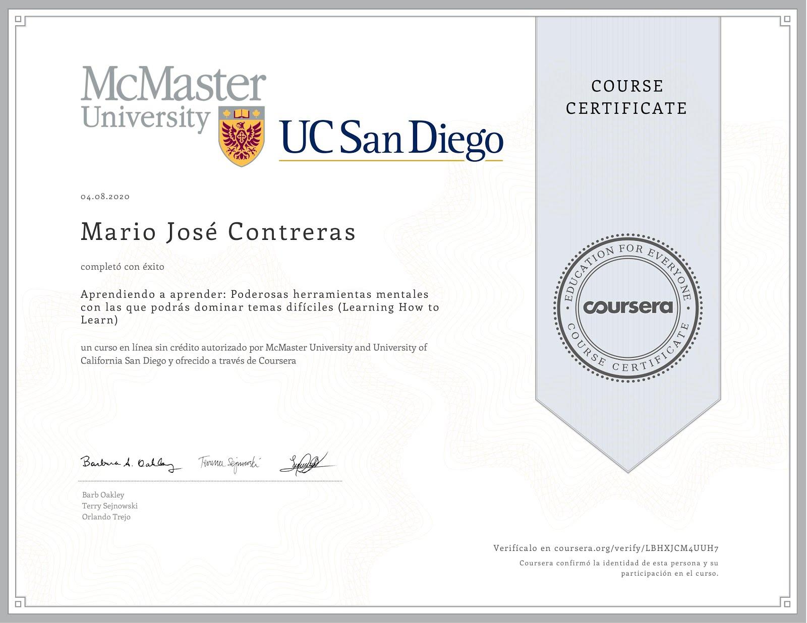 MOOC Aprender a Aprender