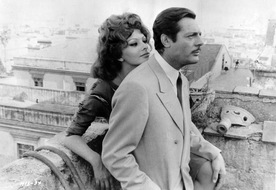 Sophia Loren a Marcello Mastoianni
