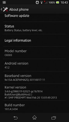 Sony Xperia ZL Firmware Update