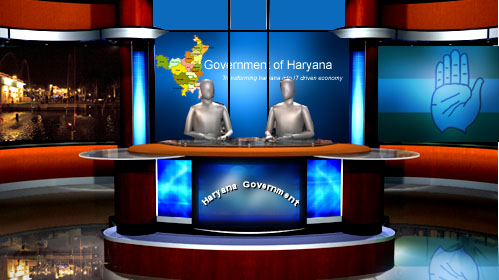 News room set in 3d for haryana govt