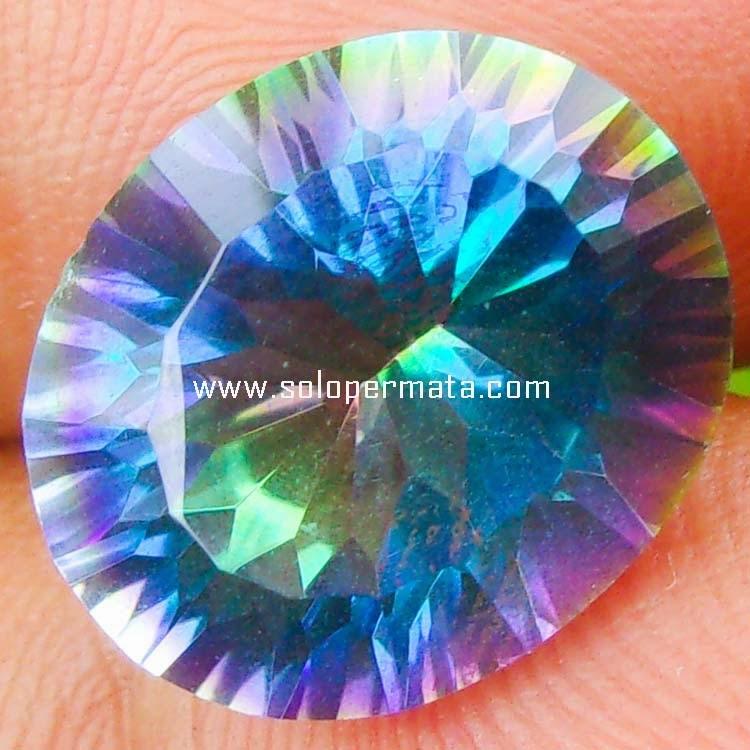 Batu Permata Rainbow Mystic Quartz - Sp072