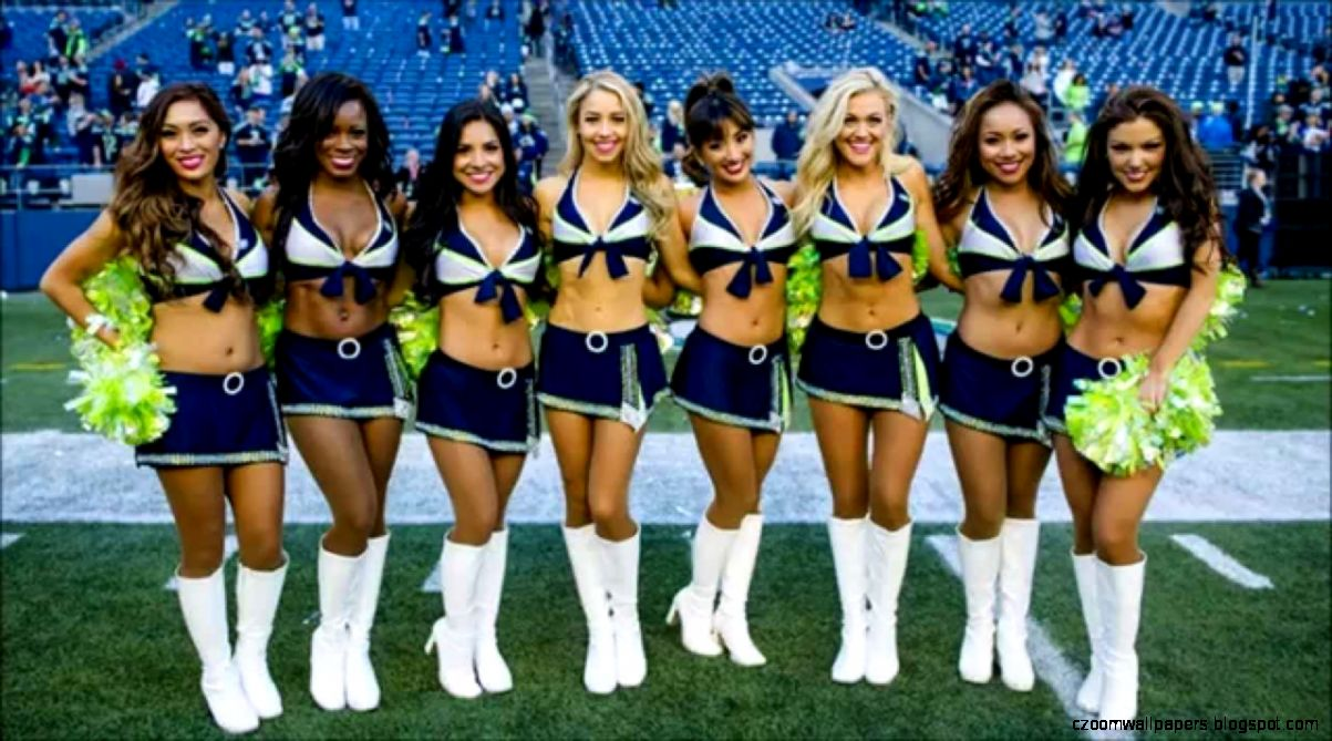 Seattle Seahawks Cheerleaders Round One   YouTube