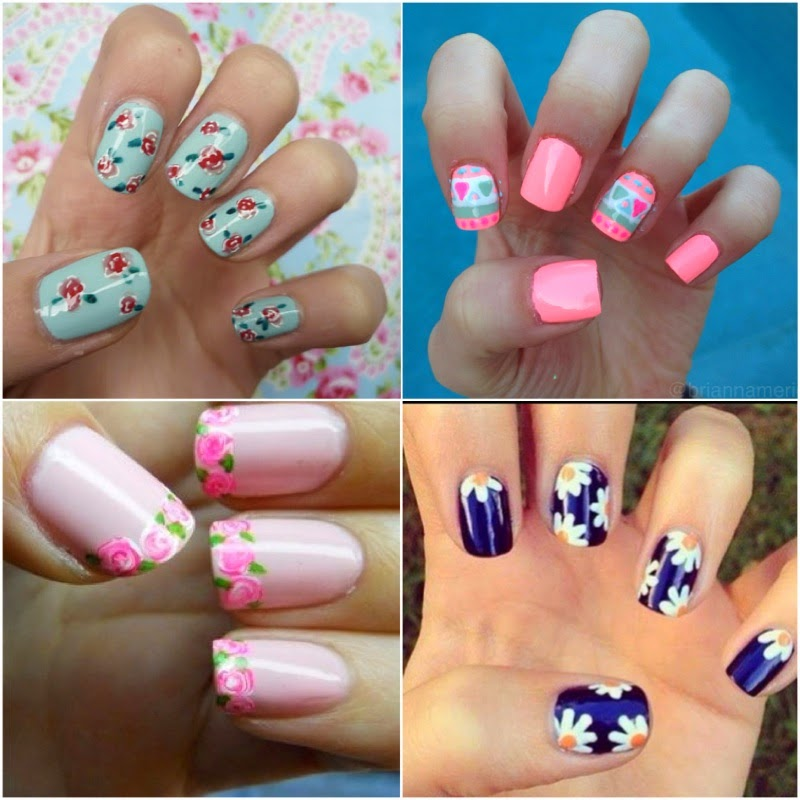 Spring Gel Nail Art Styles View Images