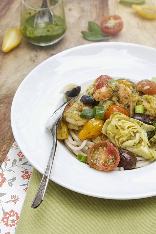 ... Levant: Best and Easiest Mediterranean Shrimp Pasta with Kale Pesto