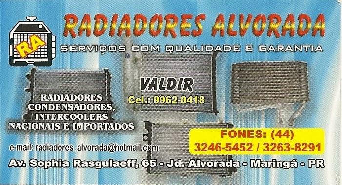RADIADORES ALVORADA - SOLDAS EM GERAL
