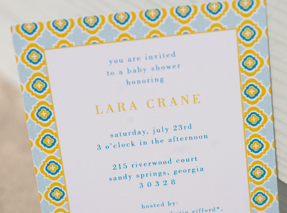 Serena lily inspired baby shower invitation calliespondence and now she is a gorgeous mama to a precious little boy congrats lara filmwisefo
