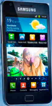 smart mobil från Samsung med Androidsystem
