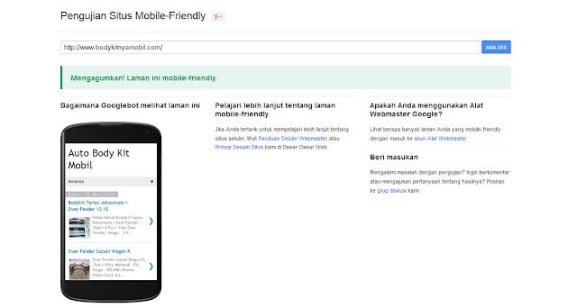 Website Sobat Sudah Mobile Friendly Belum