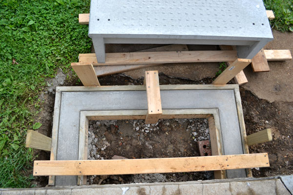 Pre Made Concrete Pads : Replacing our crumbling concrete porch steps lansdowne life