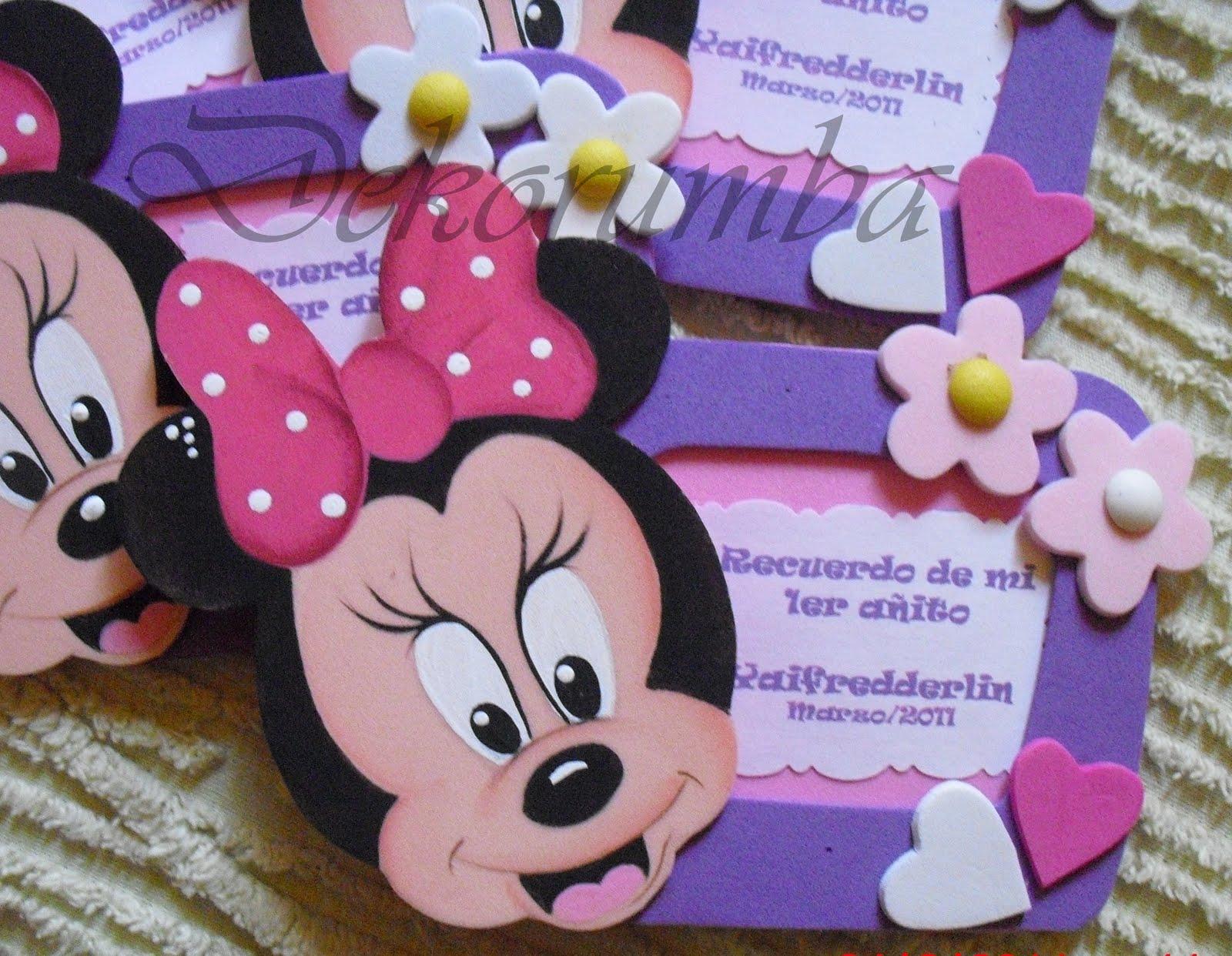 Tarjetas de Invitación de Minnie Bebe