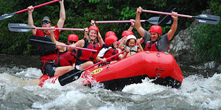 Whitewater rafting near Gatlinburg
