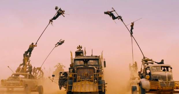 mad max fury road 2015 film car chase pole vaulting