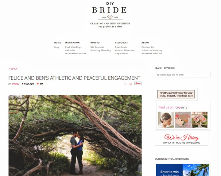 DIY Bride engagement session photography