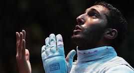 علاء الدين ابو القاسم انتزع ابو القاسم فضية في سلاح الشيش في دورة الالعاب الاولمبية المقامة في لندن