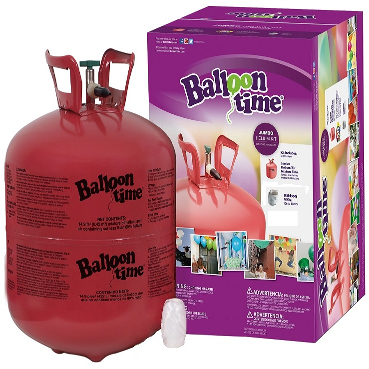 Tanque de helio desechable para globos de latex y - Helio para inflar globos barato ...