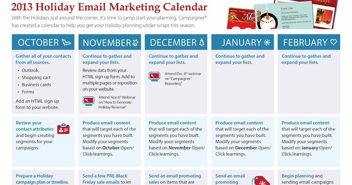 Inside Campaigner: Campaigner Holiday Email Marketing Calendar