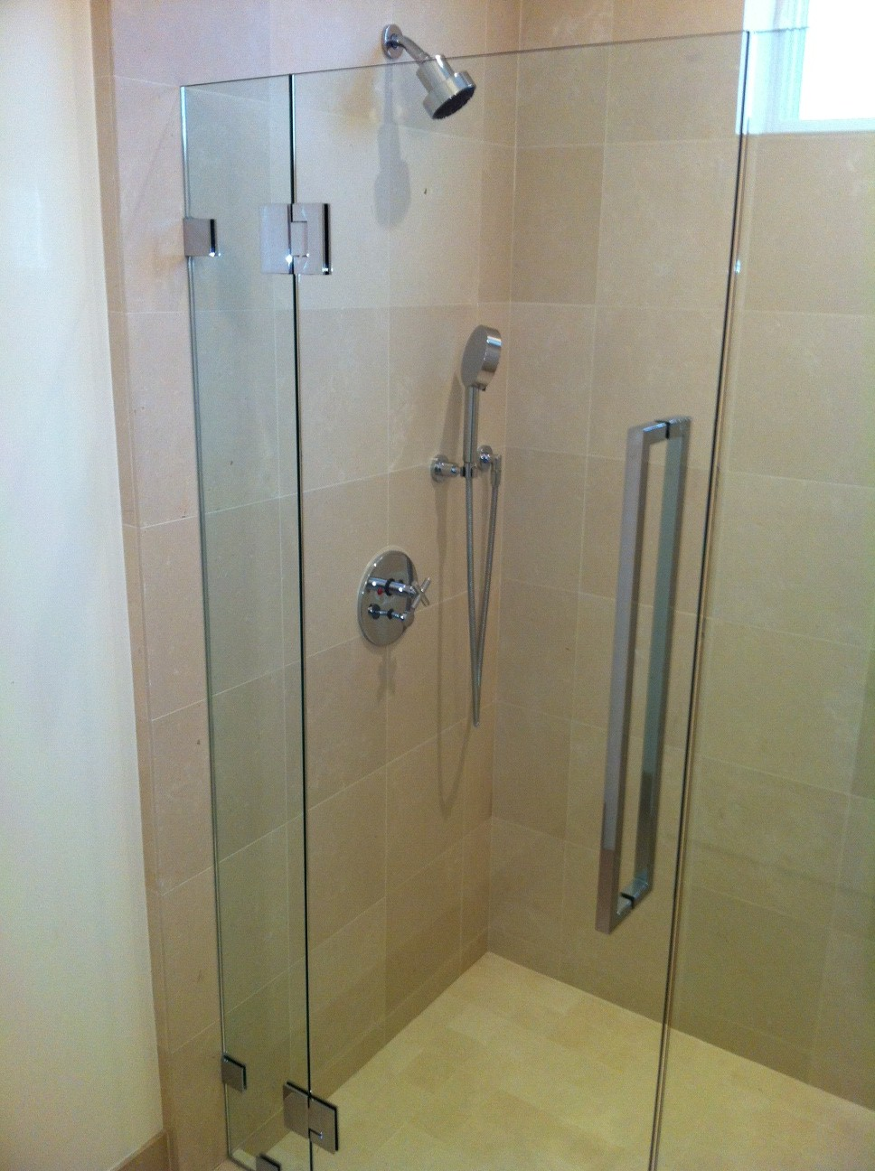 Custom Polished Chrome Shower Door And Hardware Ot Glass