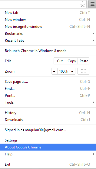 Infallible techie how to update google chrome steps to update google chrome ccuart Choice Image