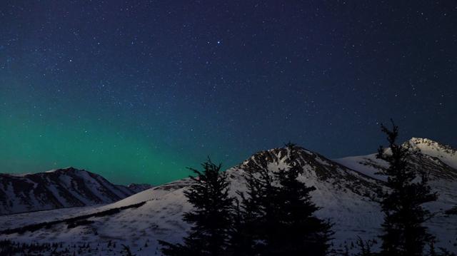A belas imagens do Alasca durante o inverno