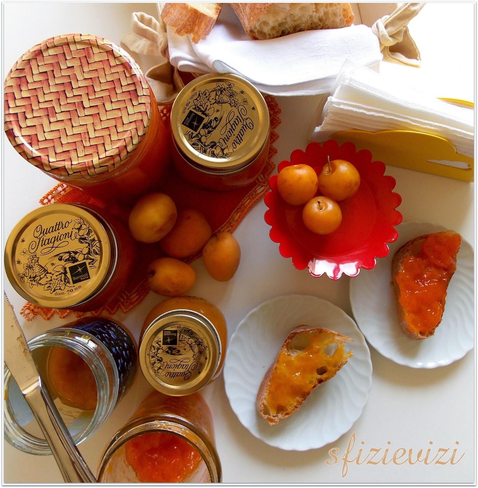 le mie confettura estive: mele e susine, pesche tabacchiere, prugne