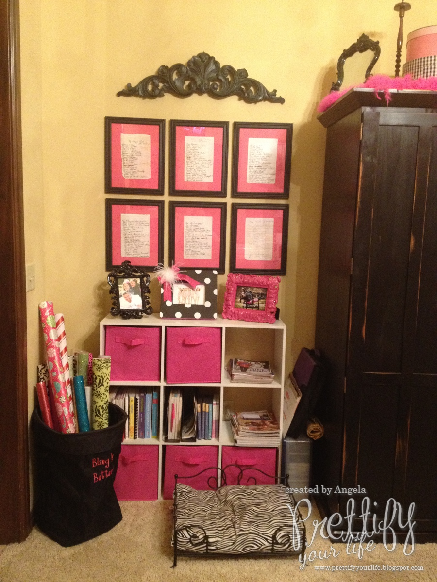 Prettify your life show me your craft room blog hop for Cricut mini craft room