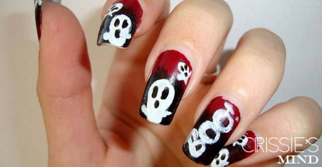 Halloween Ghosts Nail Art
