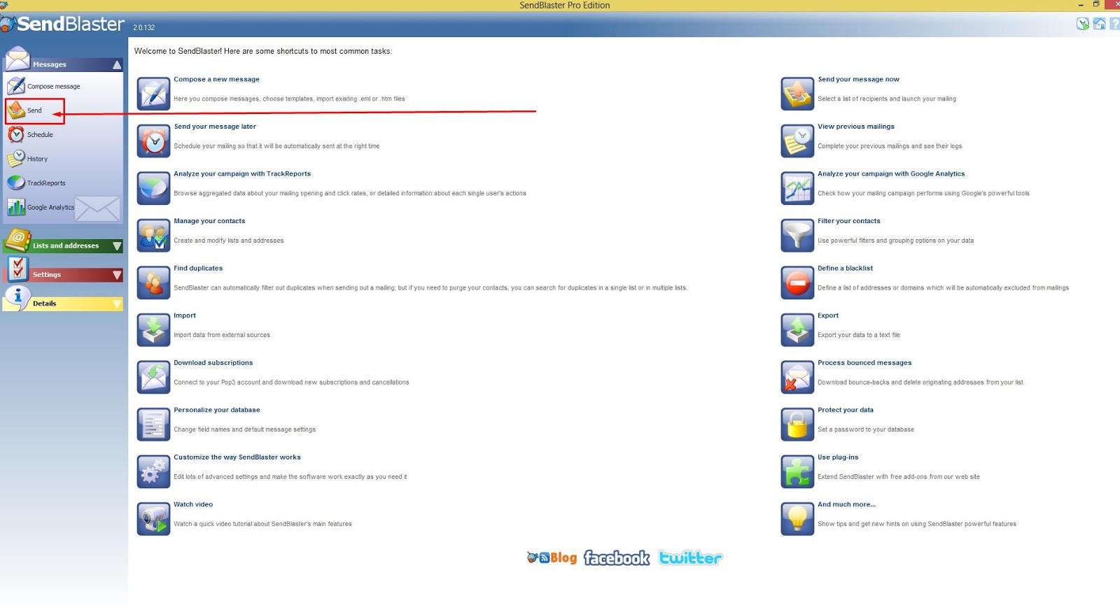 SendBlaster SMTP Setup