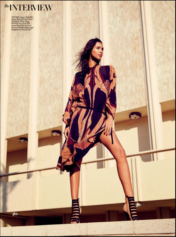 Magazine Photoshoot : Lais Ribeiro Photoshot For  Harper's Bazaar Magazine Arabia January 2014