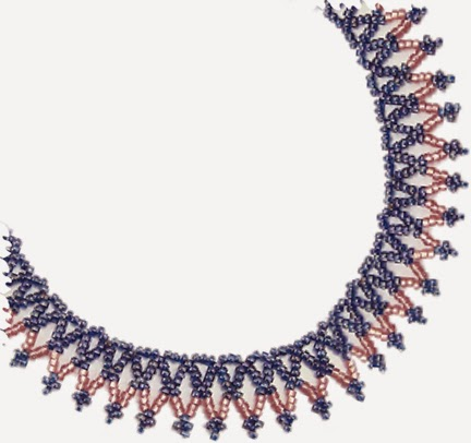 free bead patterns and ideas basic easy net necklace