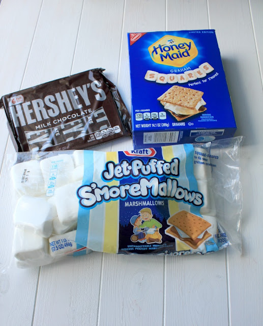 DIY Indoor S'mores Station #LetsMakeSmores #ad