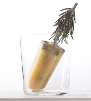 Apple Cider and Rosemary Ice Pops