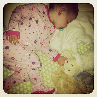 Madeline sleeping through her first night with a babysitter