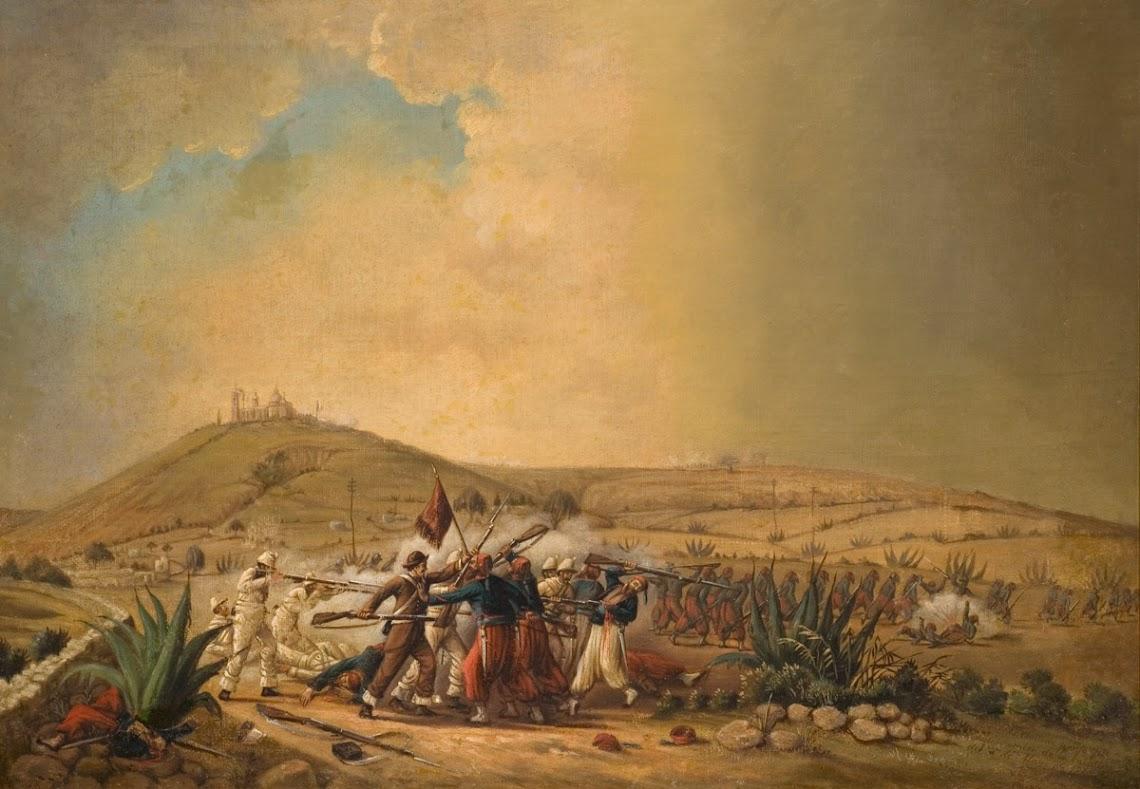Batalla de Puebla, Patricio Ramos Ortega, 1862. Colección Museo de Historia Mexicana
