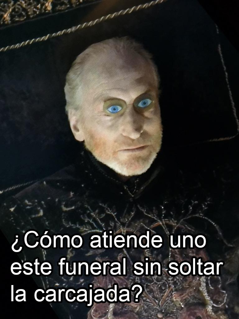 Tywin Lannister, muerto pero feliz.