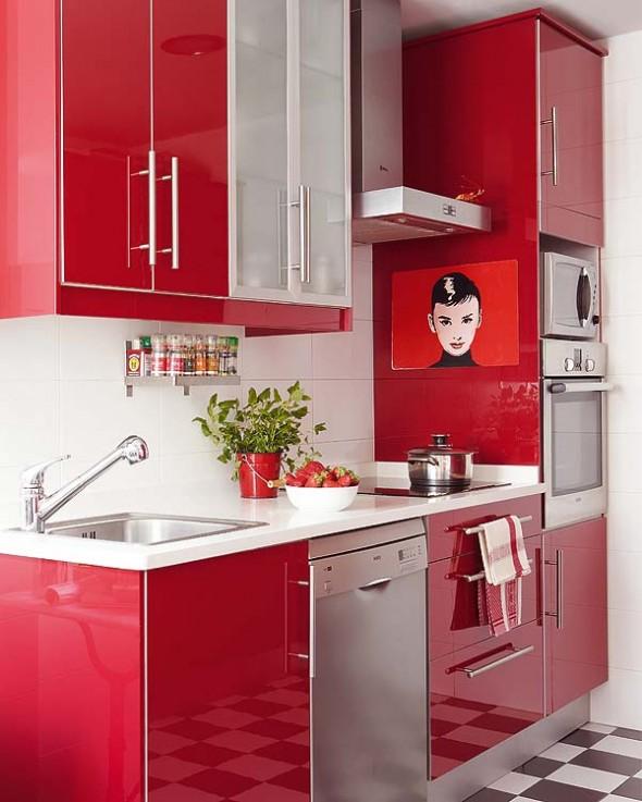 blog de decora??o  Arquitrecos Cozinha vermelha  f?rmica